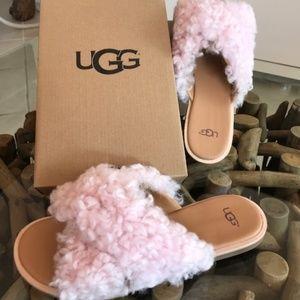 UGG Australia Joni Genuine Shearling Leather Slide